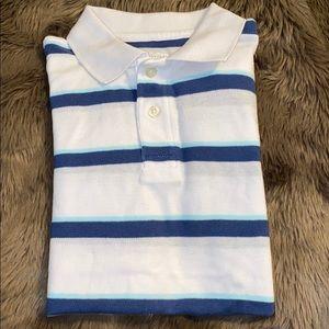 Blue &white Horizontal strips shirt (boy)